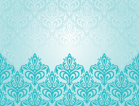 turquesa: Diseño de fondo de vacaciones decorativo retro de la turquesa decorativa