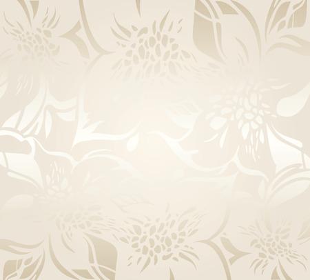 装飾的な装飾とベージュの花柄休日背景