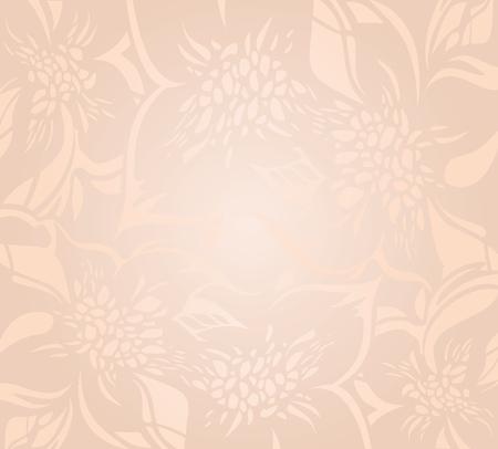 ecru: Floral decorative ecru peach holiday background design