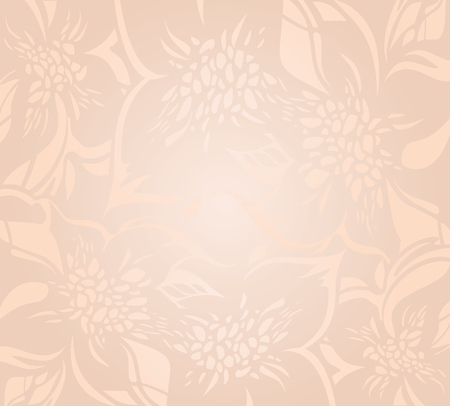 holiday background: Floral decorative ecru peach holiday background design
