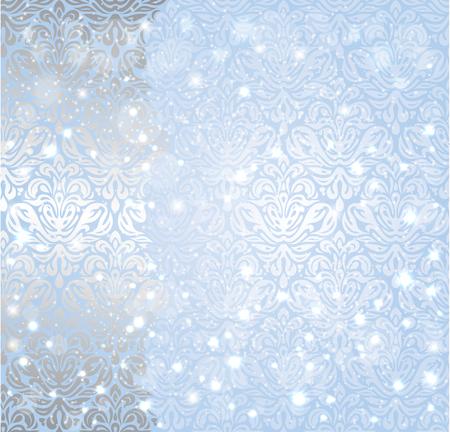 shiny background: Shiny blue christmas winter Snowflake vintage invitation background design Illustration