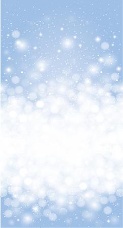 shiny background: Shiny Blue winter christmas snowflake card background
