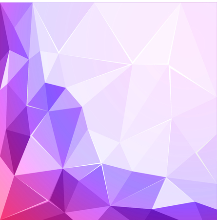 Abstract polygonal geometric facet shiny pink and violet background wallpaper illustration