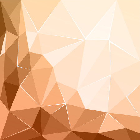 ecru: Abstract polygonal geometric facet brown ecru background wallpaper illustration