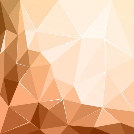 Abstract polygonal geometric facet brown ecru background wallpaper illustration