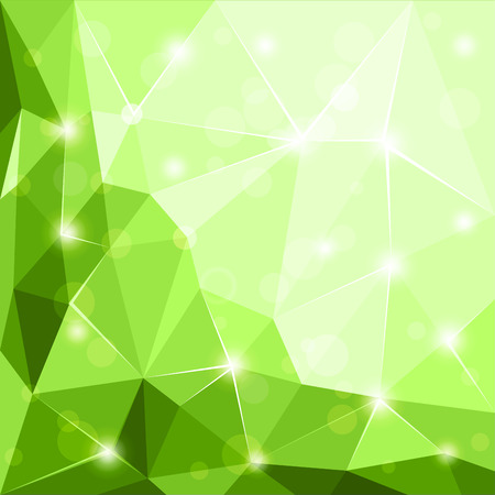 3 d illustration: Abstract polygonal geometric facet shiny green background wallpaper illustration