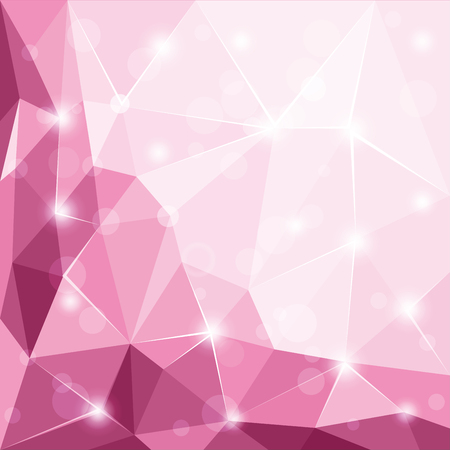 Abstract polygonal geometric facet shiny pink background wallpaper illustration