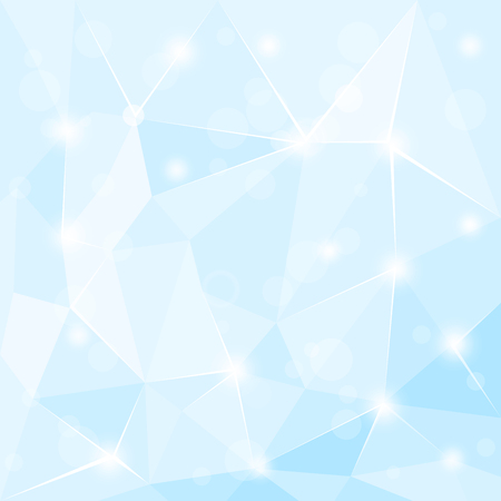 3 d glasses: Abstract polygonal geometric facet shiny blue background wallpaper
