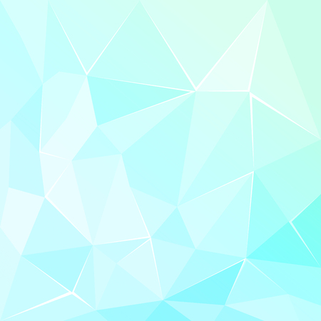 3 d glasses: Abstract polygonal geometric facet Turquoise background illustration Illustration
