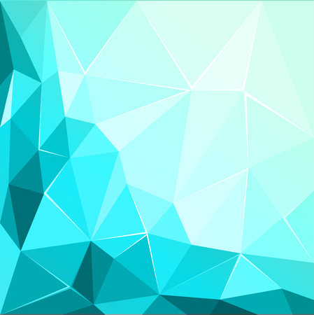 3 d illustrations: Abstract polygonal geometric facet shiny Turquoise background wallpaper illustration Illustration