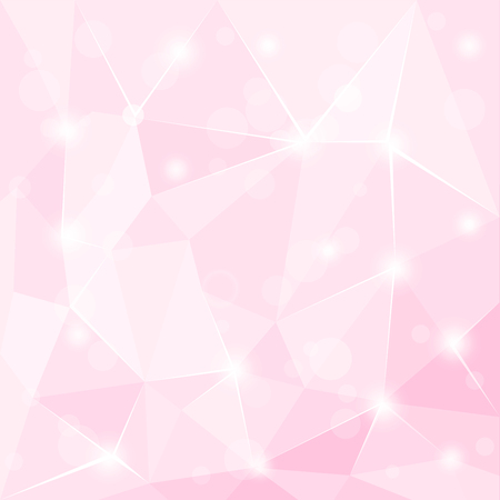 Abstract polygonal geometric facet shiny Pink background wallpaper