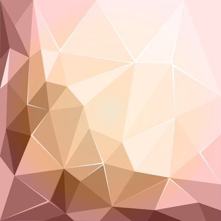 Abstract polygonal geometric facet pink and ecru background wallpaper Illustration