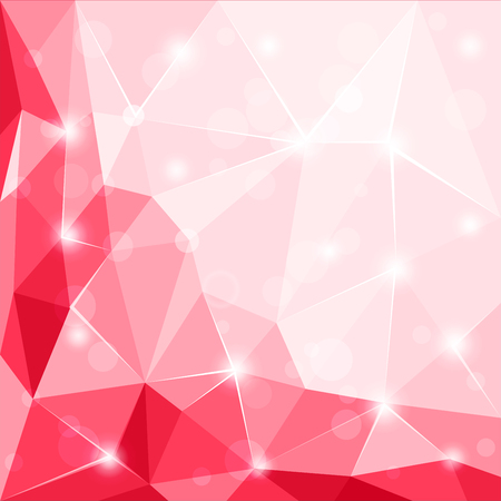 Abstract polygonal geometric facet shiny red vector, background wallpaper illustration Illustration