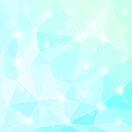 3 d glasses: Abstract polygonal geometric facet Turquoise background wallpaper illustration