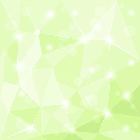 3 d glasses: Abstract polygonal geometric facet shiny green vector background illustration