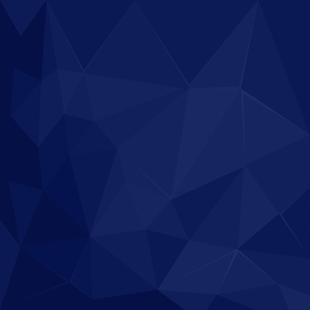 3 d glasses: Abstract polygonal geometric facet Dark Blue vector background wallpaper illustration Illustration