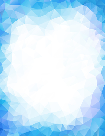 Blue background geometrical triangular polygonal vector design
