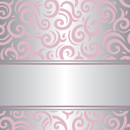 Pink  silver invitation vintage background retro vector wallpaper design