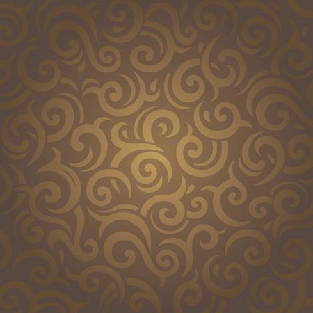 ocher: Dark brown vintage retro vector ornamental wallpaper design
