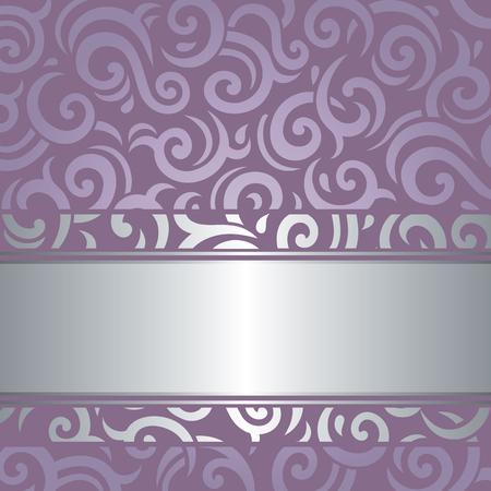 violeta: Lavanda violeta de lujo de la boda del vector retro de diseño de fondo de la vendimia