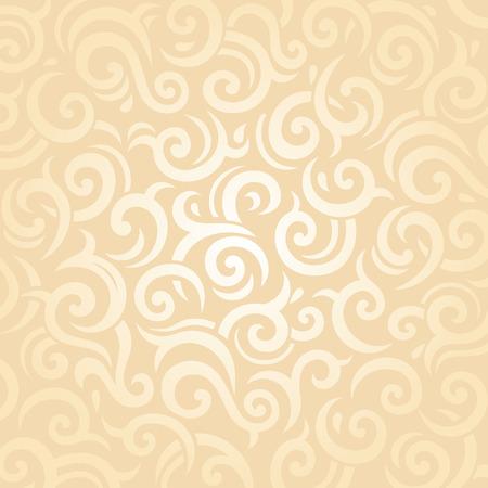 pale ocher: Gentle wedding pale peach retro invitation vector pattern background design Illustration