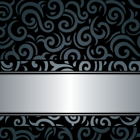 silver backgrounds: Black  silver luxury vintage retro wallpaper background