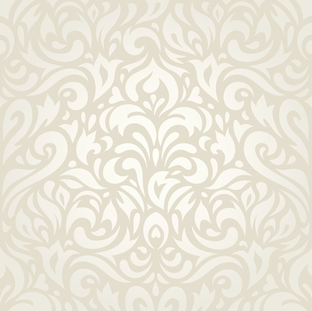 Wedding vintage floral ecru wallpaper background decorative design