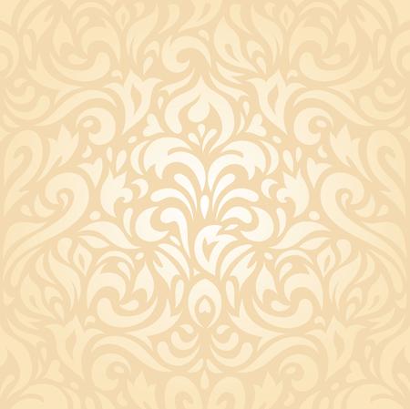pale ocher: Floral wedding peach retro decorative invitation wallpaper background design