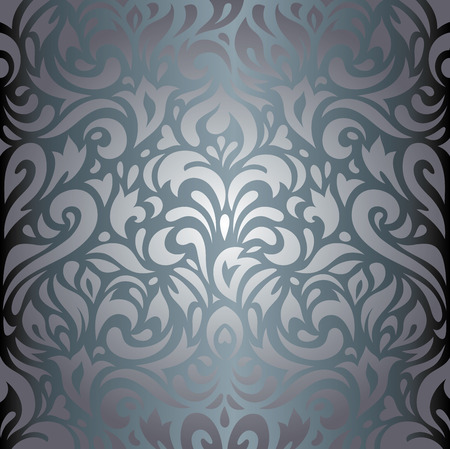 decorative wallpaper: Silver floral luxury decorative vintage wallpaper background design