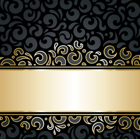 decorative wallpaper: Decorative black  gold luxury decorative pattern wallpaper background
