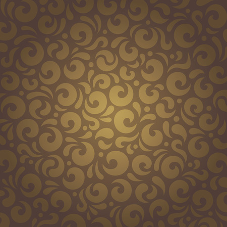 decorative wallpaper: Decorative brown vintage retro ornamental holiday wallpaper design Illustration