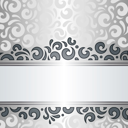 decorative wallpaper: Silver shiny vintage decorative wallpaper pattern background