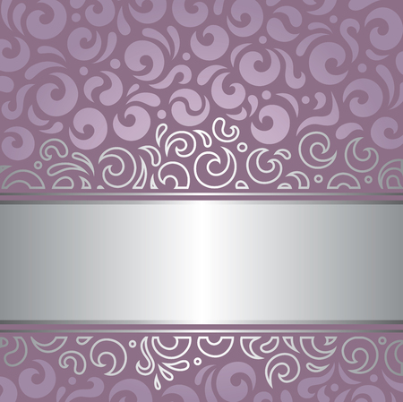 holiday background: Decorative wedding violet vector holiday background design