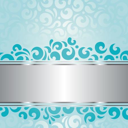 green swirl: Retro green blue holiday vintage decorative invitation background design Illustration