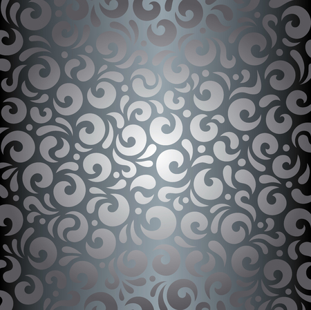 Silver shiny vintage wallpaper decorative background Illustration