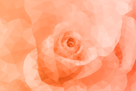 orange background abstract: Abstract triangle polygon floral fashion orange background