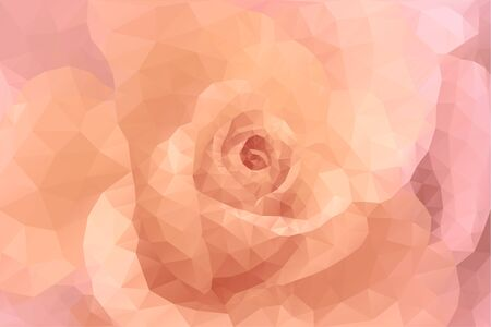 Abstract triangle polygon floral fashion pink and beige wedding gentle background Illustration
