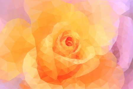 Abstract triangle polygon floral colorful background in pink and yellow Illustration