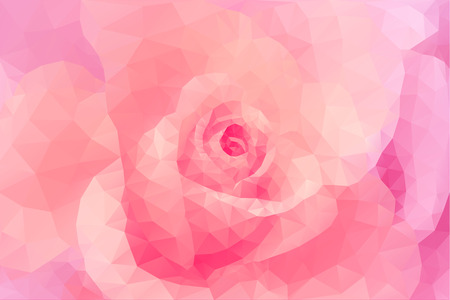 Abstract triangle polygon floral fashion pink background