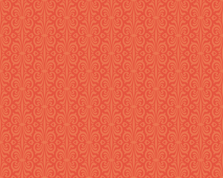 Retro style orange colorful vintage wallpaper background pattern design Illustration
