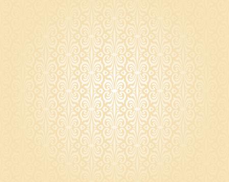 ecru: Bright wedding peach luxury vintage wallpaper background pattern Illustration