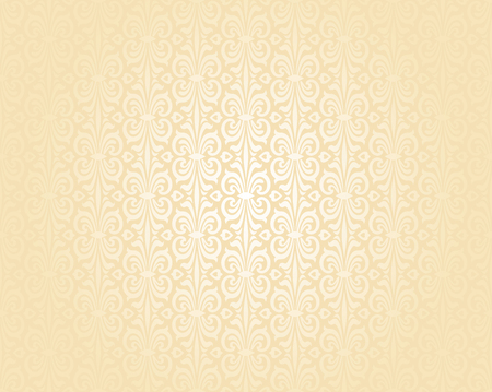 pale ocher: Bright wedding peach luxury vintage wallpaper background pattern Illustration