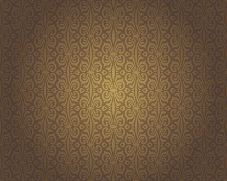 Brown vintage wallpaper background repetitive pattern design