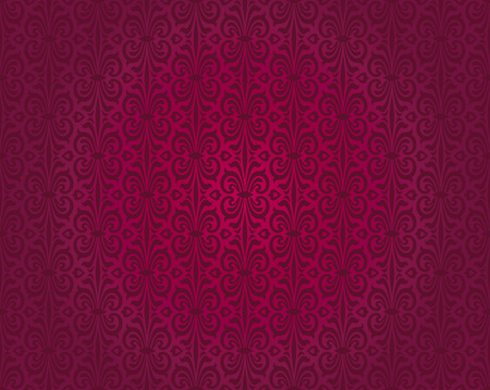 Red vintage wallpaper pattern seamless background design