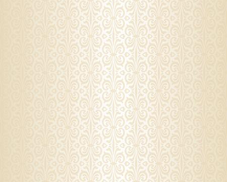 明るい結婚式ベージュ高級ビンテージ壁紙の背景パターン