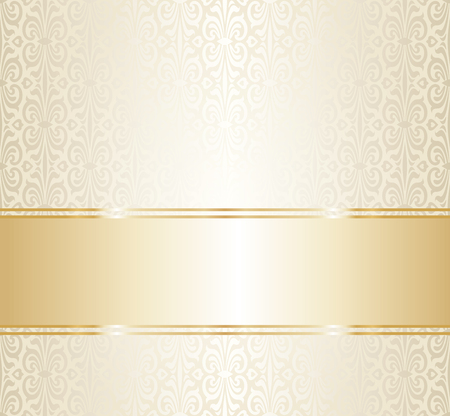 Wedding gold repetitive wallpaper pattern design blank space for text