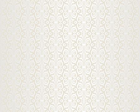 ecru: Bright wedding beige vintage wallpaper background pattern Illustration