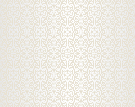 pale ocher: Bright wedding beige vintage wallpaper background pattern Illustration