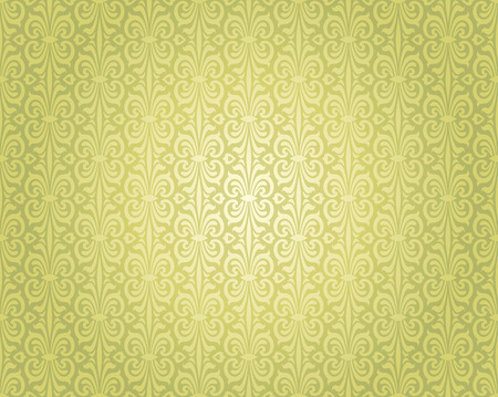repetitive: Green vintage wallpaper repetitive background design pattern