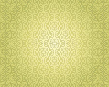 Green Vintage Wallpaper Repetitive Background Design Pattern